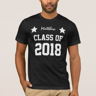 Class Of 2018 or Any Year New Grad Tee with Stars
