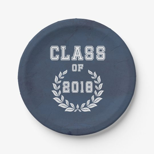 Class of 2018 paper plate