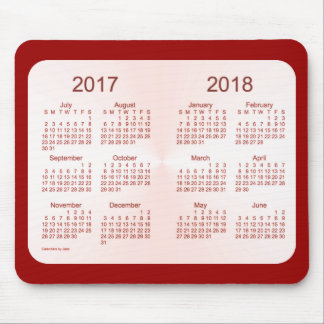 Class of 2018 Pink Maroon Calendar by Janz Mouse Pad