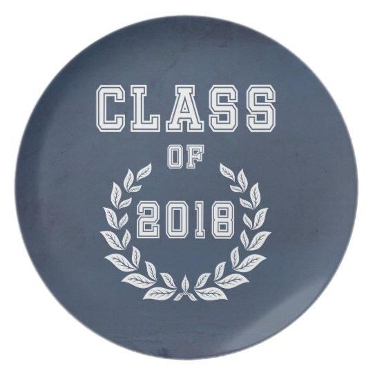 Class of 2018 plate