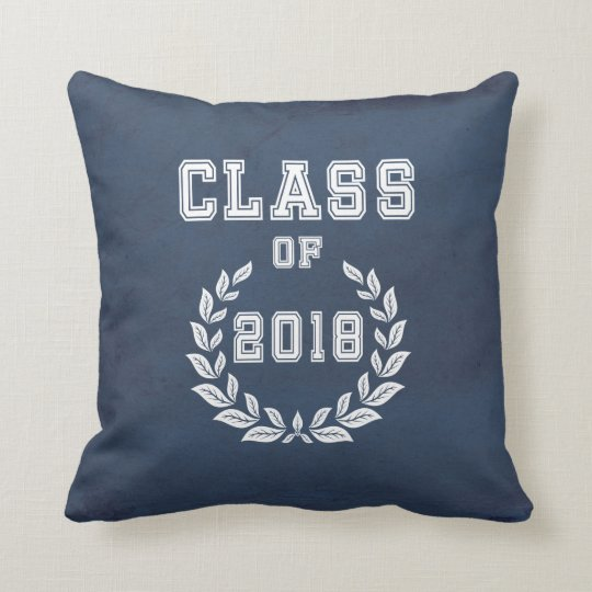 Class of 2018 throw pillow