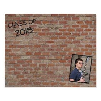 """Class of 2018 """"Write On My Wall"""" Signatures Poster"""
