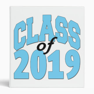 Class of 2019 blue 3 ring binders