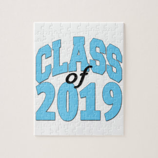 Class of 2019 blue jigsaw puzzle