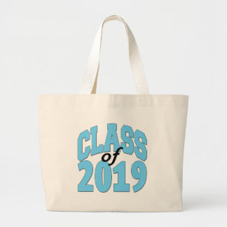 Class of 2019 blue large tote bag