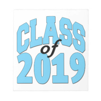 Class of 2019 blue notepad