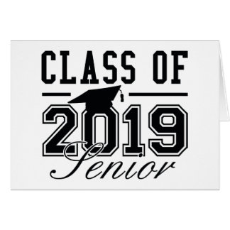 Class Of 2019 Senior Card