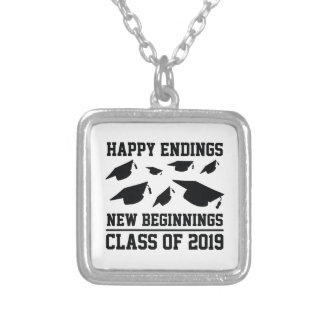 Class Of 2019 Silver Plated Necklace