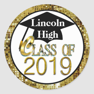 Class Of 2019 Sparkling Gold Graduation Seals
