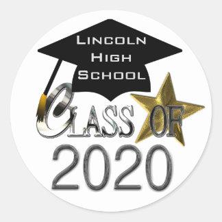 Class Of 2020 Graduation Seals Round Sticker