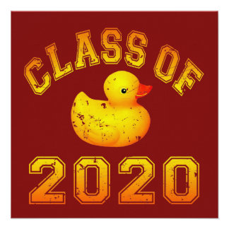 Class Of 2020 Rubber Duckie - Yellow Personalized Announcement