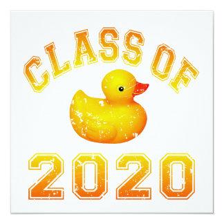 Class Of 2020 Rubber Duckie - Yellow Custom Invitation