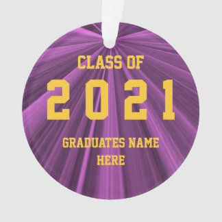 Class of 2021 Maroon and Gold Ornament by Janz