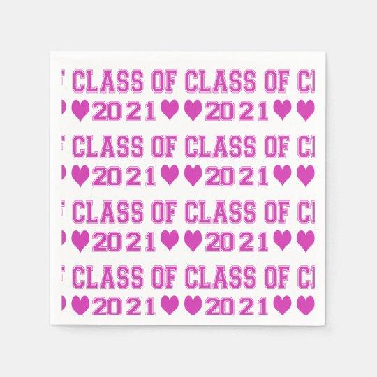 Class Of 2021 Napkins Paper Napkins