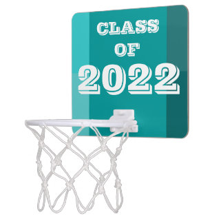 Class of 2022 Teal White Basketball Hoop by Janz