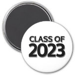 Class of 2023 3 inch round magnet