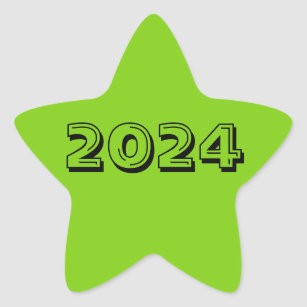 92ae4cd5f6f Class of 2024 Yellow Green Star Sticker by Janz