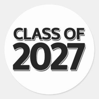 Class of 2027 classic round sticker