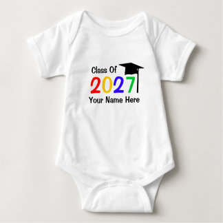 class of 2027 infant graduation baby bodysuit