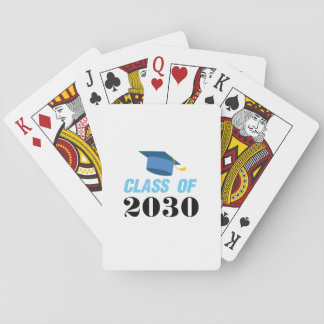 Class of 2030 Girl Boy Playing Cards