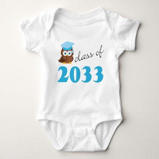 Class Of 2033 Blue Owl Baby T-shirt