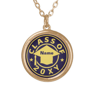 Class of 20?? gold plated necklace