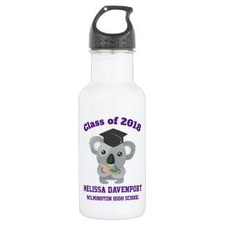 Class of 20xx Cute Koala Bear in Graduation Cap 532 Ml Water Bottle