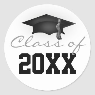 Class of 20XX Graduation Cap Classic Round Sticker