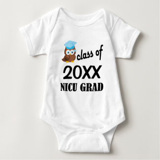 Class of 20XX NICU Grad Owl Baby T-shirt