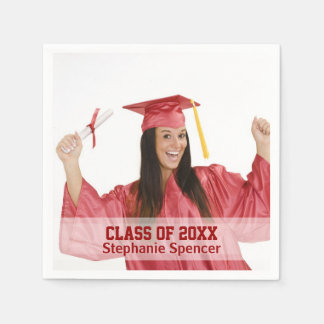 Class of 20xx Personalized Graduation Paper Napkins