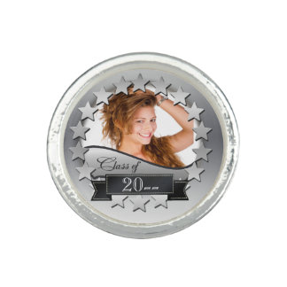 Class of 20XX Stars w/Photo Silver 2XCO Ring