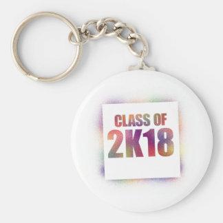 class of 2k18, class of 2018 keychain