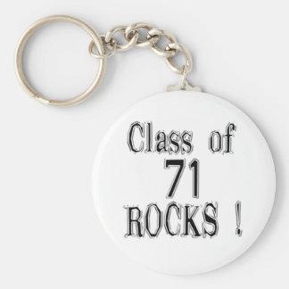 Class of '71 Rocks! Keychain