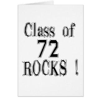 Class of '72 Rocks! Greeting Card