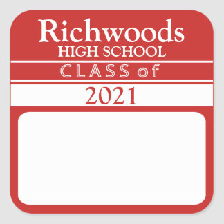 Class Of (Add Year) Name Stickers