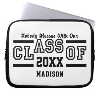 Class of ANY Year custom name laptop sleeves