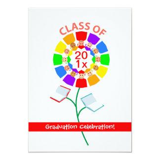 "Class of ..., Graduation Celebration 5"" X 7"" Invitation Card"