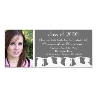 Class Of Graduation Invitation (Gray Silhouette)