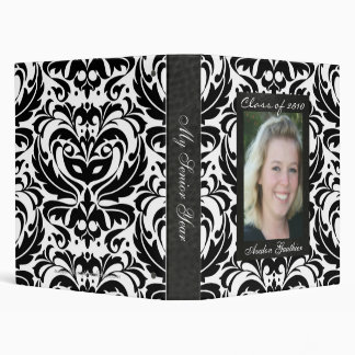 Class of Senior Damask Scroll Graduation Binder