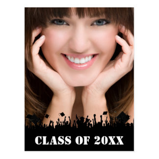 Class of Senior Graduation Open House Invitation Postcard