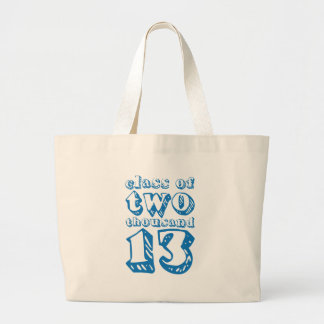 Class of two thousand 13 - Blue Large Tote Bag