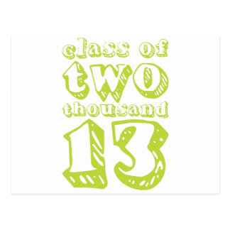 Class of two thousand 13 - Lime Green Postcard