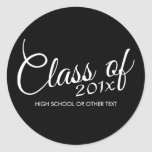 Class of with Custom Year and High School Stickers