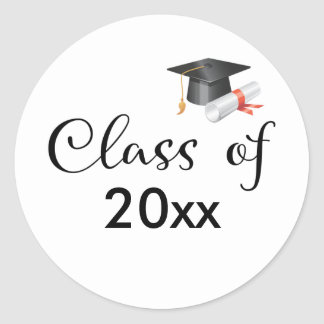Class of Your Year Classic Round Sticker