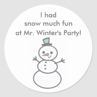 Class party sticker