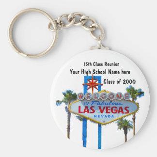 Class Reunion in Las Vegas Keychain
