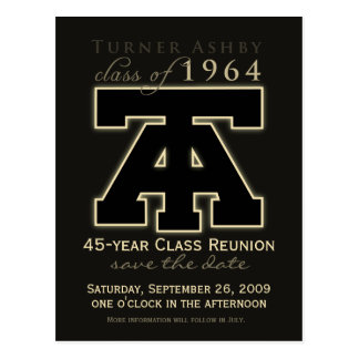 Class Reunion Save-the-Date Announcement Postcard