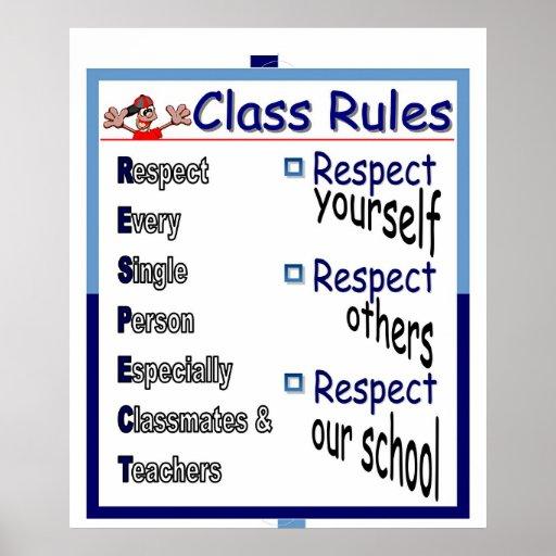 Class Rules: Respect  Print