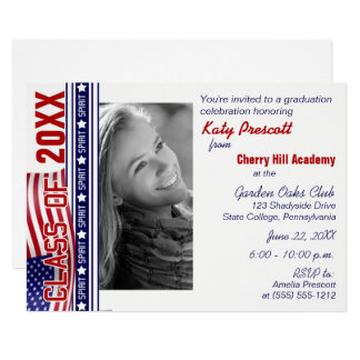 Class Spirit Patriotic Graduation Announcement