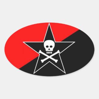 class war anarchist oval sticker